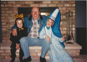 Hank with my children Matt and Jess